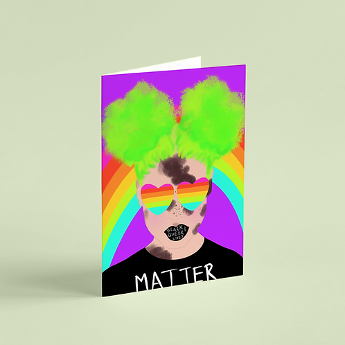 #BlackQueerLivesMatter 5 Note Card