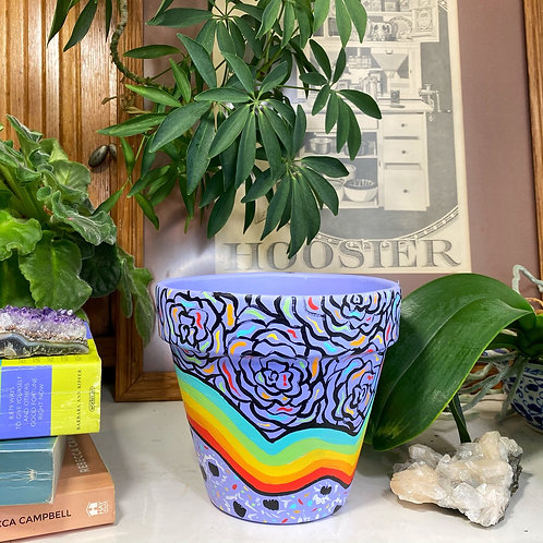 Limited Edition Hand Painted Clay Plant Pot