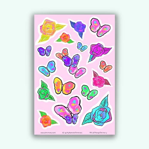 Floral Flow Sticker Sheet