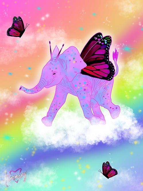Butterphant Art Print