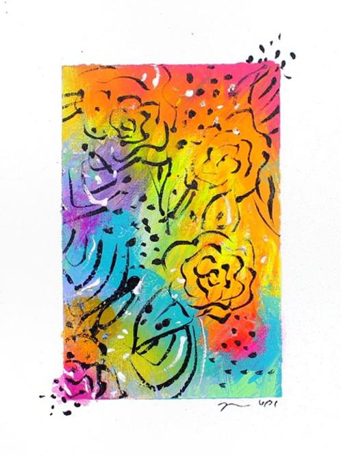 Rosey Rainbow Original Art