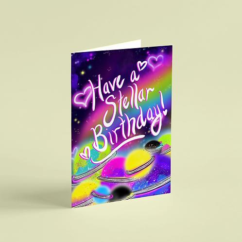 Birthday Stellar Note Card