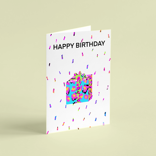 Birthday Wildly Celebrated Gift Note Card