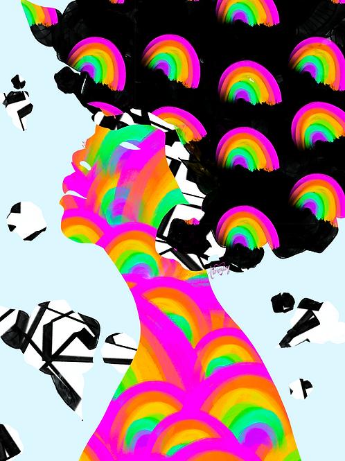 Vibrational Characteristics #5 Art Print