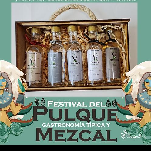 Kit de botella Mezcal V Sentidos