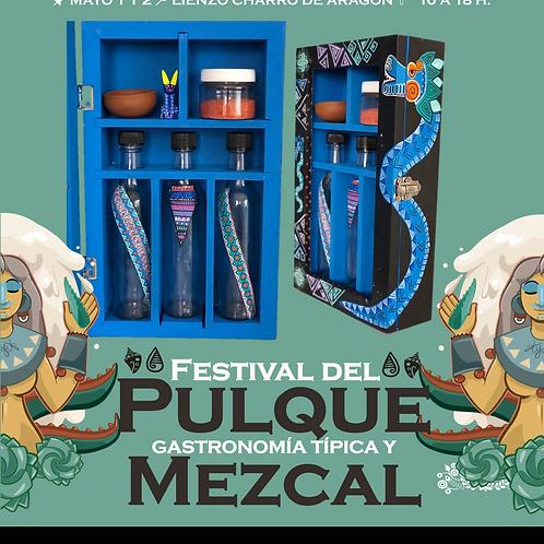 Caja de madera Quetzalcoatl