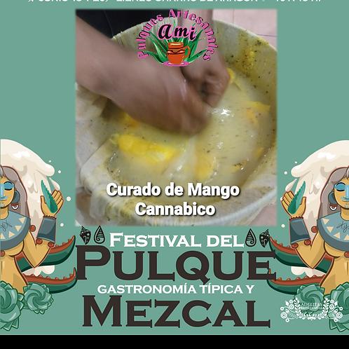 Curado pulque de mango cannabico