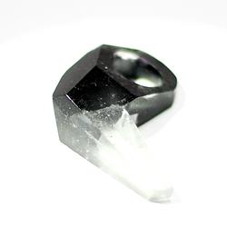 """""""Black key-hole ring"""""""