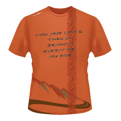 ALASKA STRONG Go Beyond Limits Biking Performance Tee