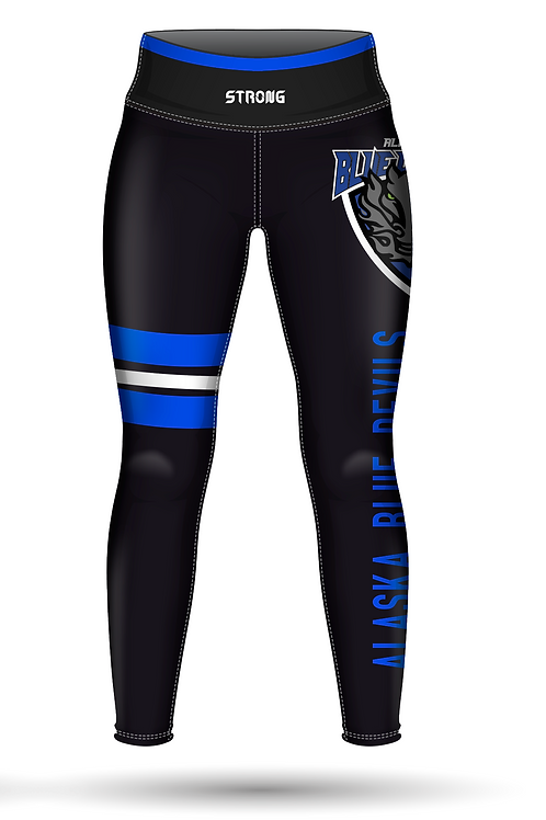 Blue Devils Leggings - L Stripe