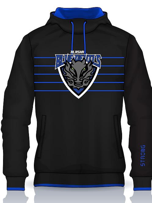 Blue Devils Embroidered Patch Logo Hoodie w Gaiter Option