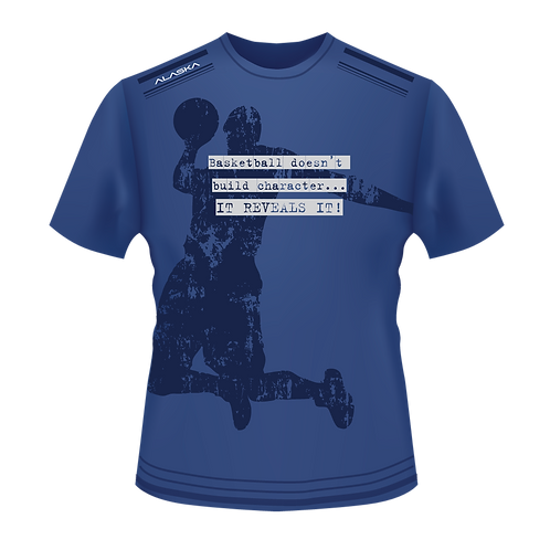 ALASKA STRONG Basketball Character Performance Tee