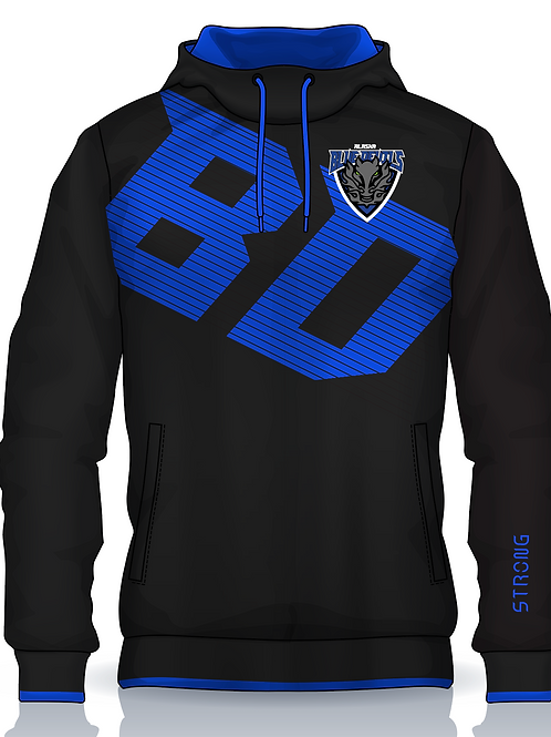 Blue Devils BD Text w Embroidered Logo Hoodie w Gaiter Option