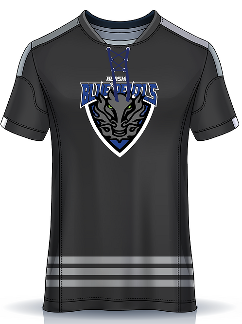 Blue Devils - Charcoal Performance Running Tee