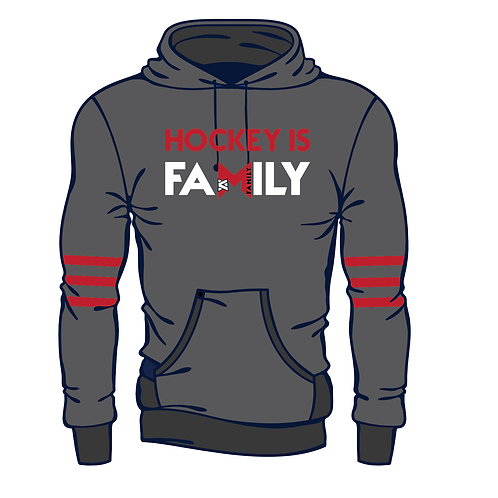 Masterson Strong - Hockey Is Family Grey Hoodie