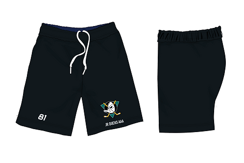 JR DUCKS - Performance Running Shorts - Simple Black