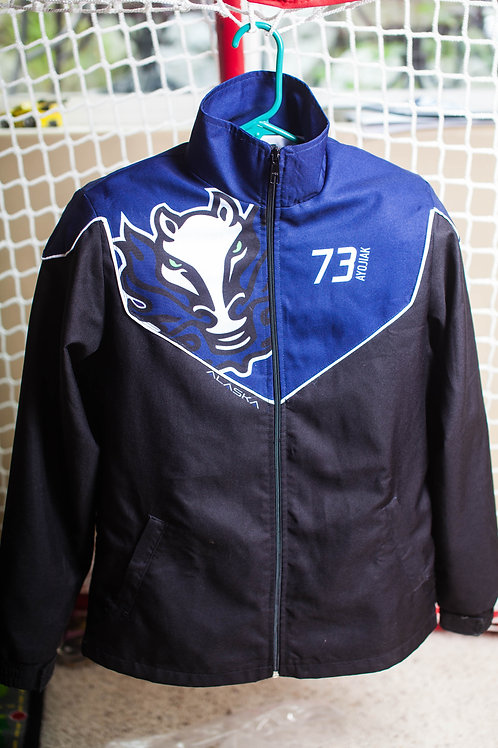 ALASKA STRONG - Custom BD Blue Top Coaches Jacket