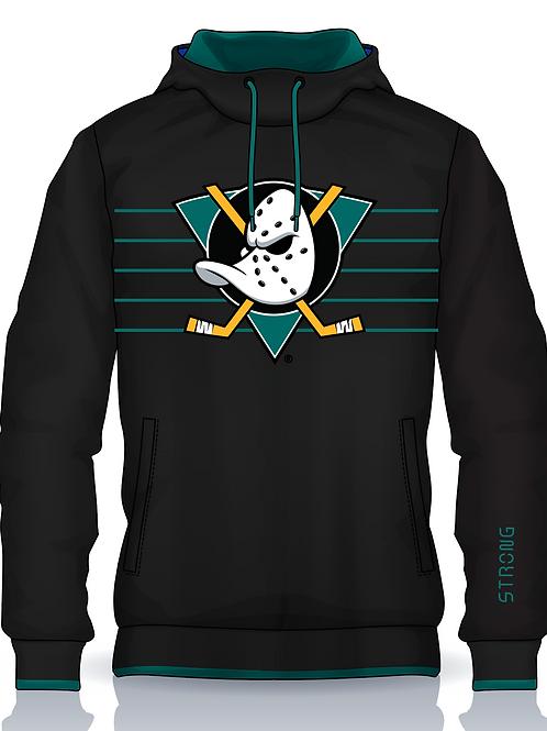 Jr Ducks Hoodie Teal Logo w Gaiter Mask