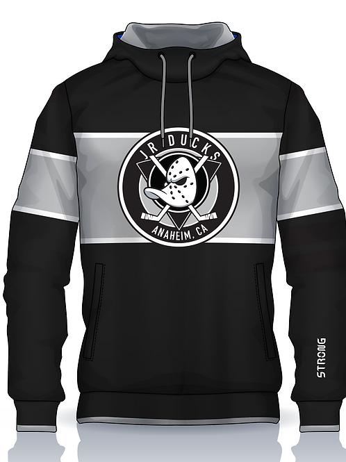 Jr Ducks Retro Hoodie BW Logo w Gaiter Mask