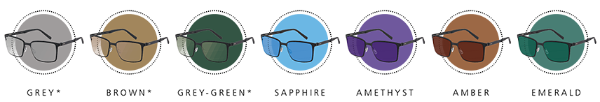 Different eyewear with different colours