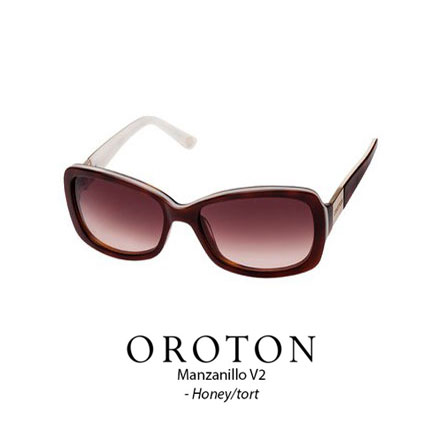 Oroton Manzanillo tort with rose brown lens