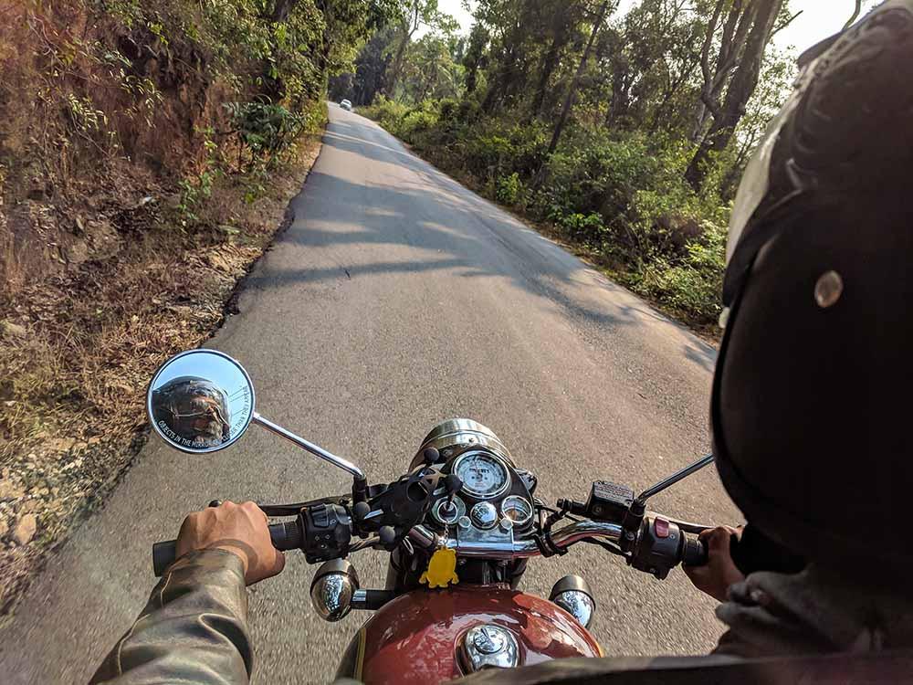 Rider riding bike