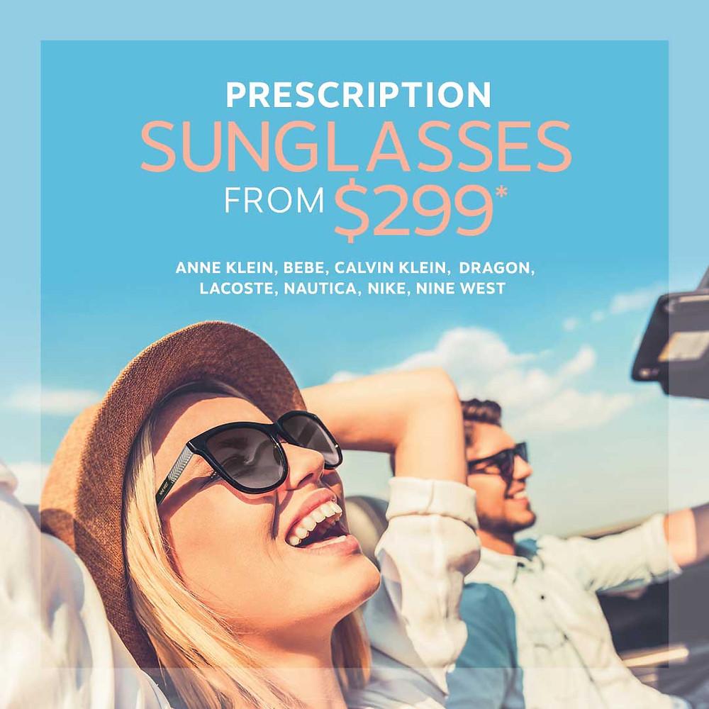 Prescription sunglasses from 299$ starting price