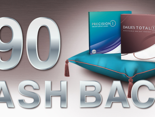 $90 Cashback on selected contact lens packs