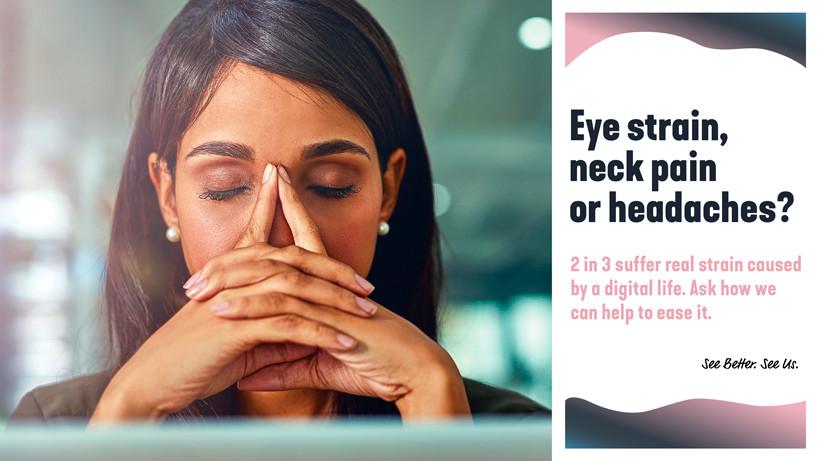 Eye strain, neck pain or headaches image