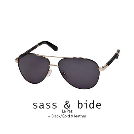 sass and bide La Paz Black/Gold with black woven leather arm