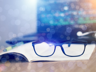 Blue light blocking, computer glasses, eye strain lenses - what does it all mean?
