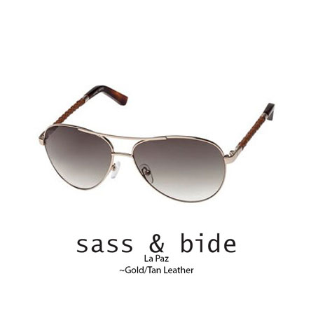 sass and bide La Paz Gold with tan woven leather arm