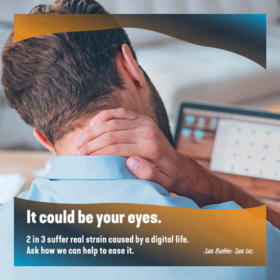 Neck pain can be due to your eyes