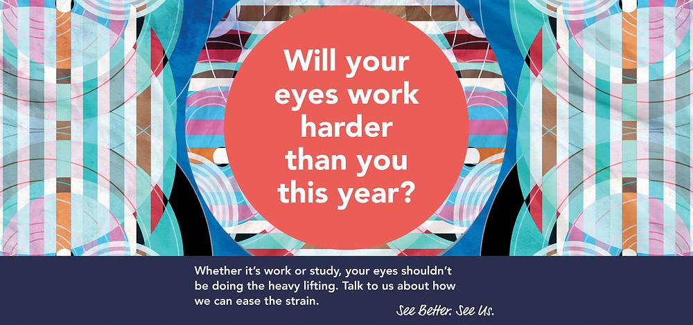 eye strain banner provision