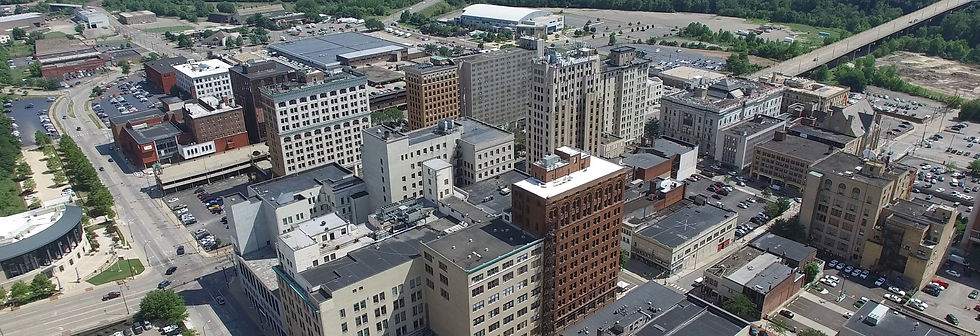 Aerial image of downtown Youngstown