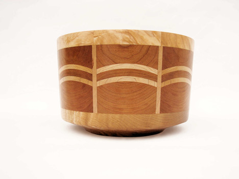 Cherry and Maple bowl #453