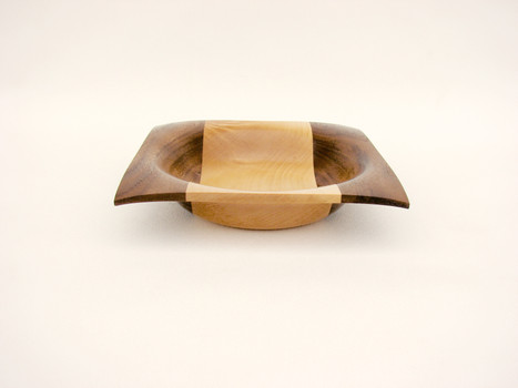 Walnut and Maple bowl #548