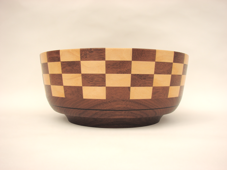 Walnut and Maple Bowl #388