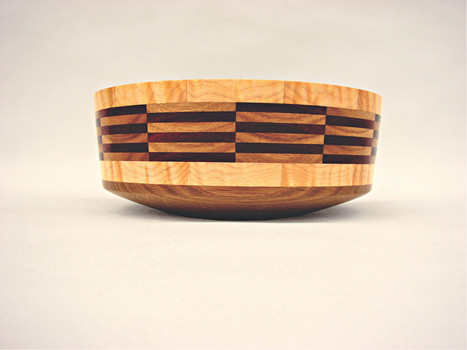 White oak, soft curly maple bowl #460