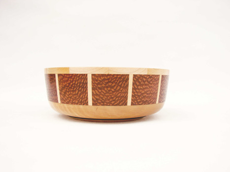 Lace wood and maple bowl #416