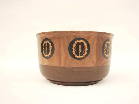 Walnut bowl with walnut shells #532