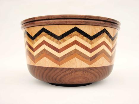 Multi-wood Wenge bowl