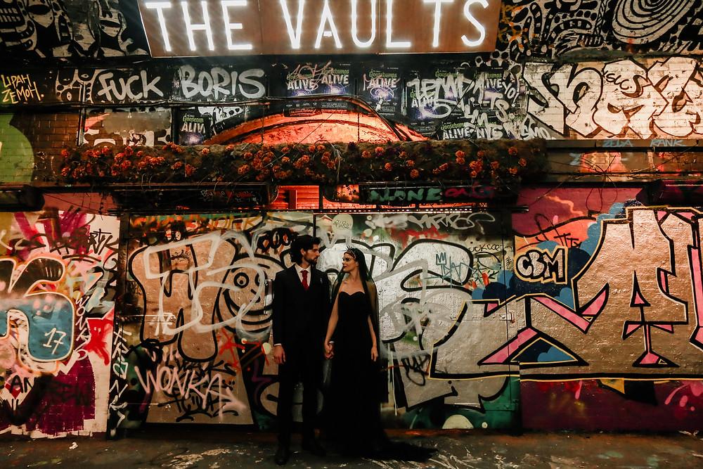 the vaults wedding London