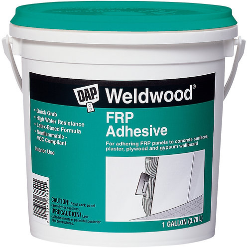 Dap Water Based FRP Adhesive 1 Gallon.