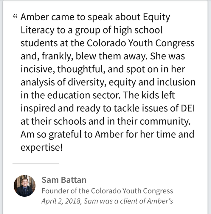 Colorado Youth Congress Engages in Equity Literacy