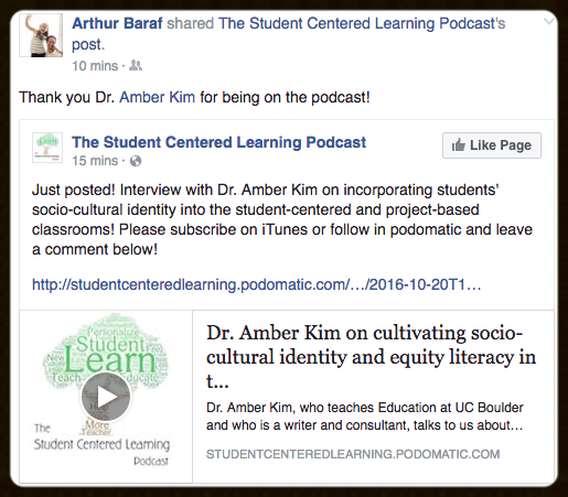 Podcast on Student Centered Learning and Equity