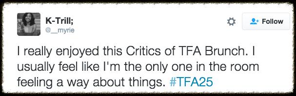 Critics' Brunch at TFA 25th Summit