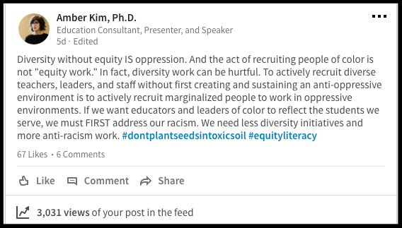 Diversity Without Equity Is Oppression
