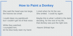 How to Paint a Donkey