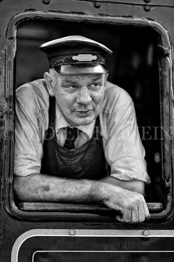 Le conducteur de locomotive. Pays de Galles